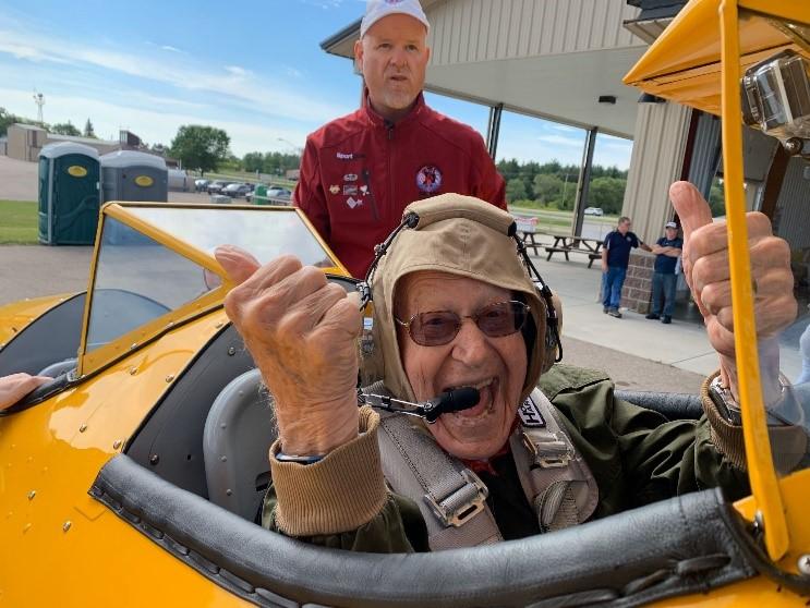 World War II veteran Lew Harned was honored by Dream Flights
