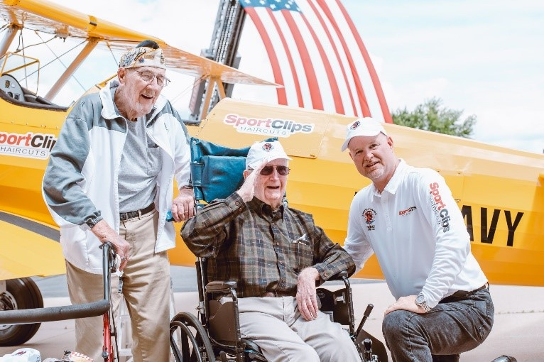 WWII Veterans Honored with 20-Minute Dream Flights
